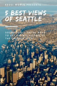 Where are the best views to experience the Seattle skyline. A list of five inspiring perches to take in the Emerald City. Downtown Seattle, Seattle Skyline, Emerald City, Pacific Northwest, Nice View, Distance, The Good Place, City Photo, Places To Go