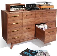 I'm really diggin' this vinyl record storage unit...it's WAY too expensive though!