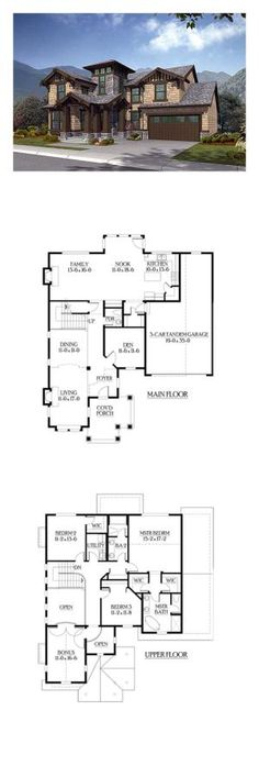 Tuscan House Plan 87536   Total Living Area: 2805 sq. ft., 3 bedrooms and 2.5 bathrooms. #houseplan #tuscanstylehome by Marie_Levampyre