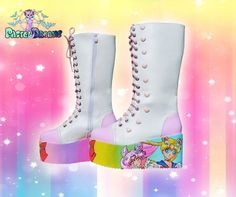 7d411a03c975 Hand painted sailor moon mlp inspired platform by PastelDreamShoes
