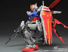Custom Build: MG 1/100 Aile Strike Gundam Ver. RM [Detailed] - Gundam Kits Collection News and Reviews Gundam Astaroth, Strike Gundam, Unicorn Gundam, Facebook Features, Custom Paint Jobs, Casio G Shock, News, Building, Collection