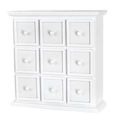 Doodlebug Design - Fashion Furnishings Collection - Apothecary Chest - White at Scrapbook.com $123.49