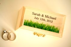 Garden Wedding ring pillow. Adorable summer custom ring bearer box.  Custom Ring Bearer Box from Little Wee Shop on Etsy:  https://www.etsy.com/shop/LittleWeeShop?ref=si_shop