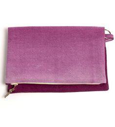Beet Ombre Clutch by Boutique Textiles