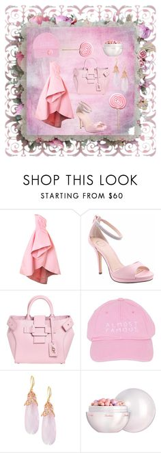 """lollipop pink 🍭💎💎"" by gillian-mescher ❤ liked on Polyvore featuring Monique Lhuillier, I. MILLER, Roger Vivier, Nasaseasons, Indulgems and Guerlain"