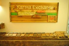 Our Karma Exchange!  Leave a note of love and gratitude for your favorite teacher :) #yoga #studio #oc