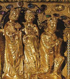 Reis Magos, Nicolás de Verdun (1130 – 1205). Urna dos Reis Magos na catedral de Colônia