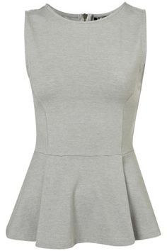 grey + peplum   So cute but I don't know if I could pull off this style.