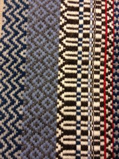 Rosepath with wool weft and 8/3 linen warp