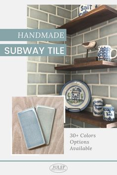 """Simple, yet refined, our handmade 3""""x6"""" subway tile adds a unique touch to any kitchen or bathroom renovation. Looking for fresh ideas on how to use this classic tile? We can you help you with that, too! If you're wondering how this tile would look in your kitchen or bathroom, we've got plenty of projects to share! Backsplash Ideas, Kitchen Backsplash, Handmade Tiles, Powder Rooms, Subway Tile, Beautiful Bathrooms, Tile Patterns, Kitchen Inspiration, Home Renovation"""