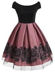 Short sleeve vintage dress with mesh - Neue Mode Kleider - Summer Dress Outfits Cute Prom Dresses, Elegant Dresses, Pretty Dresses, Homecoming Dresses, Beautiful Dresses, Casual Dresses, Short Dresses, Sexy Dresses, Summer Dresses