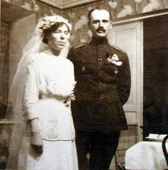 Grand Duchess Olga Alexandrovna and her second husband Colonel Kulikovskii
