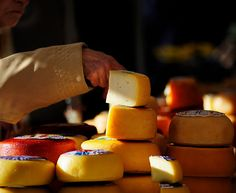 Cheeses at Loule Market, Algarve, Portugal