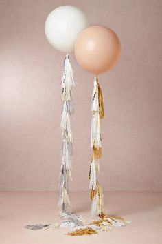 giant balloons with tassels