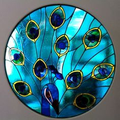 NOOO! this is just too nice to comment on!!! Gorgeous Peacock window by Simply Stained Glass