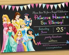 Check out our disney princess digital paper selection for the very best in unique or custom, handmade pieces from our shops. Disney Princess Invitations, Disney Princess Birthday Party, 5th Birthday Party Ideas, Mermaid Invitations, Digital Invitations, Girl Birthday, Birthday Crowns, Cinderella Party, Princess Party Decorations