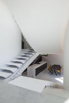 modern, futuristisch, Villa MQ, Office O Architects, Tremelo, Dennenbos - Villa MQ - Wonen Voor Mannen