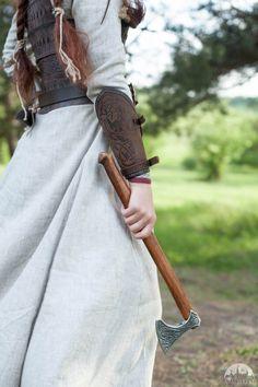 15 % RABATT Viking Leder Armschienen Schildmaid paar von armstreet