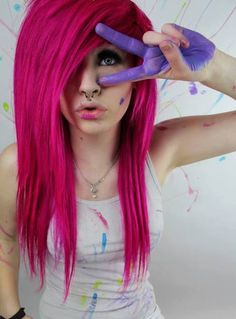 Pink Hair✶ #Hairstyle #Colorful_Hair #Dyed_Hair