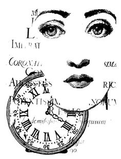 LaBlanche - Foam Mounted Silicone Stamp - Clock Collage at Scrapbook.com $6.49