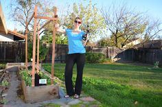 How To Build A Pea/Bean Trellis (during your child's nap)! ~The Tasty Alternative