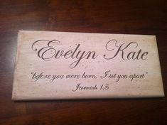 MADE TO ORDER Hand Painted Baby Boy/Girl Name Nursery 5.5x12 Wood Sign - Custom Words Sayings w/wo Scripture Bible Verse on Etsy, $40.00