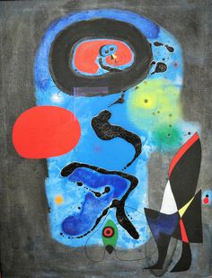 Joan Miro - The Red Sun - 1948 at the Phillips Collection Art Gallery Washington, DC