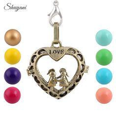 Find More Pendant Necklaces Information about Heart Love Music Angel Ball Charm Pregnant Bell Ball Harmony DIY Cage Caller Long Neckalce Pendant For Pregnant Women Baby ,High Quality pendant usb,China pendant plastic Suppliers, Cheap cage fishing from shuyani Official Store on Aliexpress.com