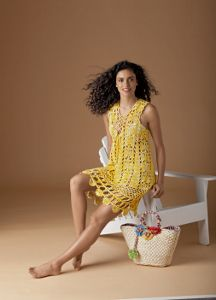 Get ready for summer with the lightweight Here Comes the Sun Crochet Dress.  You'll find the free crochet pattern right here!