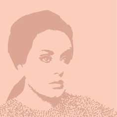 Digital portrait of Adele by Zoe Sizemore from CIP Design Studio.
