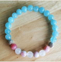Check out this item in my Etsy shop https://www.etsy.com/listing/387072198/genuine-aquamarine-lotus-bracelet