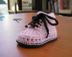 Tuto chausson bébé au tricot en Français Plus
