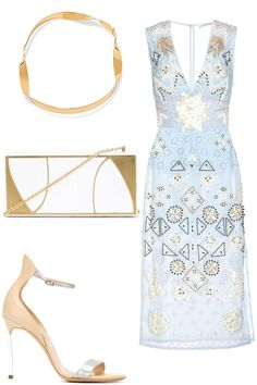 Day Dreamer: Daytime dresses get an instant update when gilded in patinaed…