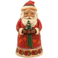 Christmas Cheer Given Here Jim Shore Santa Figure. #JimShore #Statue #Sculpture #Decor #Gift #gosstudio .★ We recommend Gift Shop: http://www.zazzle.com/vintagestylestudio ★