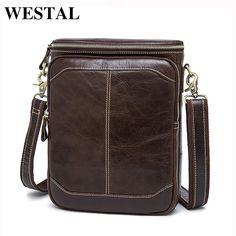WESTAL Hot Sale Male Bags 100% Genuine Leather Men Bags Messenger Crossbody Shoulder Bag Men's Casual Travel Bag For Man 8003 -  http://mixre.com/westal-hot-sale-male-bags-100-genuine-leather-men-bags-messenger-crossbody-shoulder-bag-mens-casual-travel-bag-for-man-8003/  #Handbags