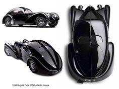 Speed | Style | Sculpture. 1938 Bugatti 57 SC Atlantic Coupé. Ralph Lauren's car collection.