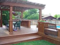 Image result for diy deck around above ground pool