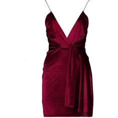 Boohoo Paige Velvet Plunge Neck Drape Bodycon Dress ($23) ❤ liked on Polyvore featuring dresses, bodycon maxi dresses, party dresses, purple party dresses, bodycon dress and purple cocktail dresses