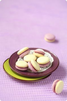 Verdade de sabor: Макаронс с черникой и лаймом / Macarons de mirtilo...