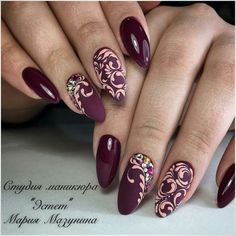 Маникюр | Ногти Crazy Nail Art, Crazy Nails, Nail Polish Designs, Nail Art Designs, Cute Nails, Pretty Nails, Nail Ink, Henna Nails, Uñas Fashion