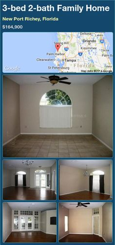 3-bed 2-bath Family Home in New Port Richey, Florida ►$164,900 #PropertyForSale #RealEstate #Florida http://florida-magic.com/properties/77622-family-home-for-sale-in-new-port-richey-florida-with-3-bedroom-2-bathroom