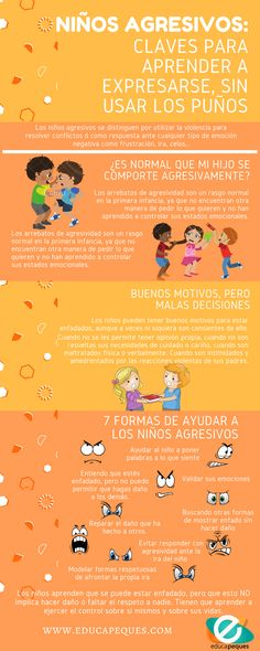 agresividad en los niños Relatório Individual, Special Educational Needs, Career Education, Kids Education, Aluna, Emotional Intelligence, Occupational Therapy, Early Childhood Education, Classroom Management