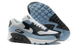 Nike Air Max 90 Mens Black Water Blue White 325018 401