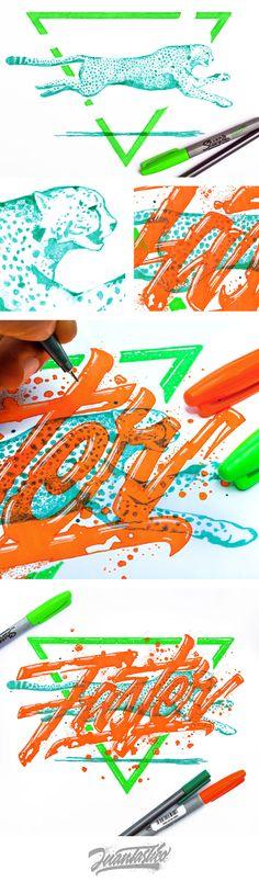 Typography Illustrations Vol.5 on Behance