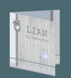 Geboortekaartje Liam