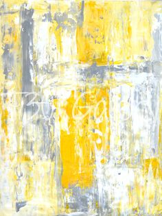 Modern Artwork By T30gallery Yellow Art Acrylic Abstract
