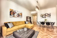 Spacious Two-Bedroom Serviced Apt. - Old Town - Apartments for Rent in Prague, Czech Republic, Czech Republic Old Town Apartments, Two Bedroom Apartments, Cool Apartments, Modern Apartment Design, Family Apartment, Building A House, House Design, Living Room, Furniture