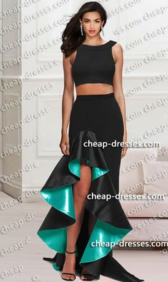 1733625983 gorgeous ruffled skirt off the shoulder two piece prom dress.prom  dresses