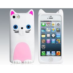 Cat Protective Case for iPhone 5 (White)