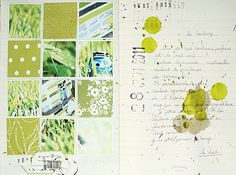 .... and the colour of the day for art journaling is green.